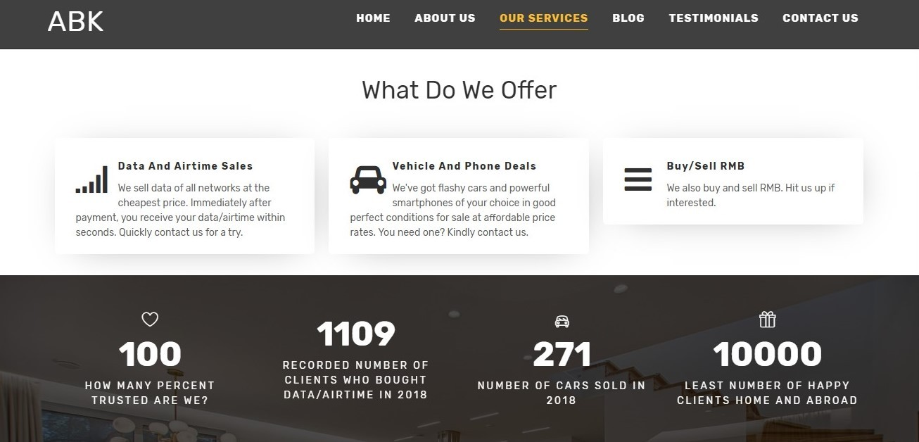 affordable web design services in Nigeria