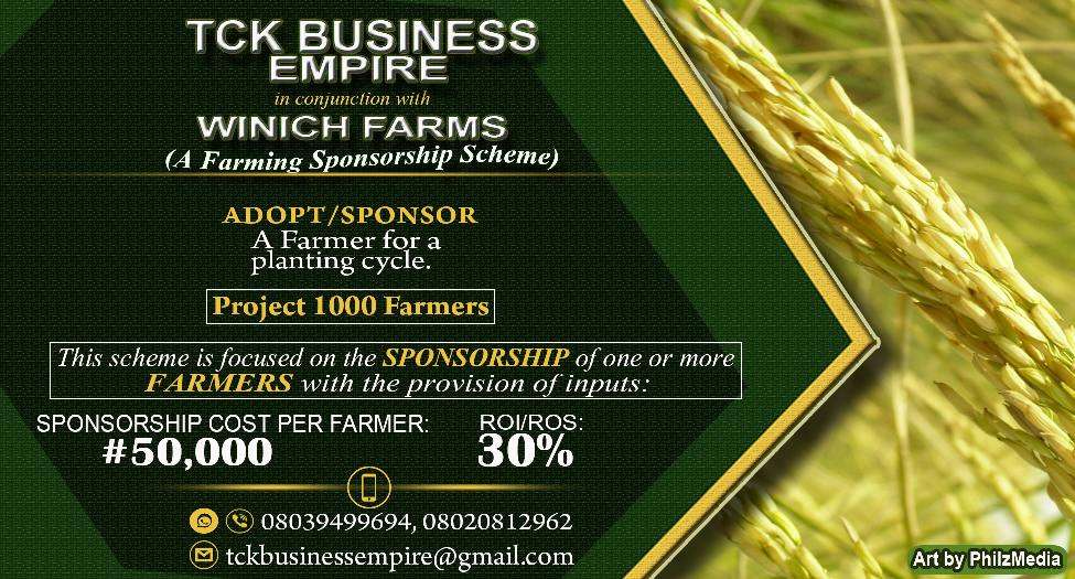 Rice Production Flyer for TCK Business Empire