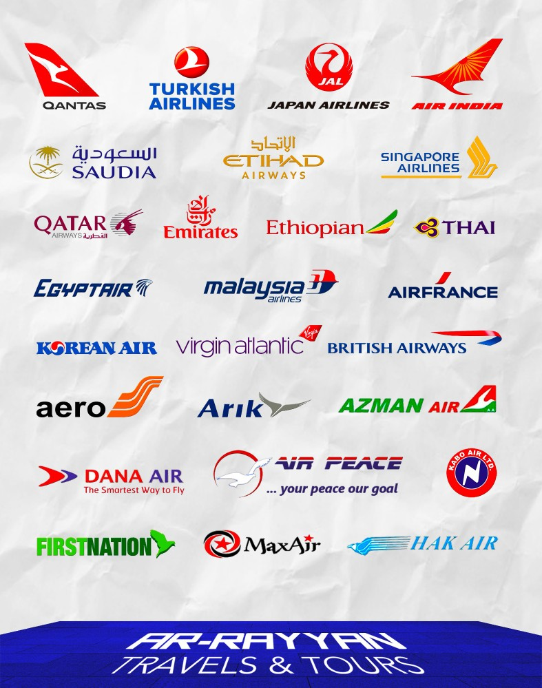 Airlines Logo Poster for Ar-rayyan Travels & Tours