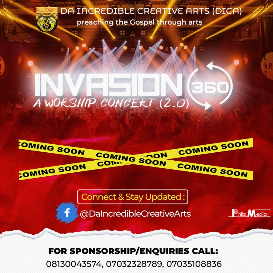 Concert Flyer for Da Incredible Creative Arts (DICA)