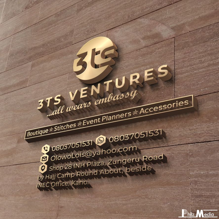 3D LOGO FOR 3TS VENTURES (CLOTHING & FASHION BRAND)