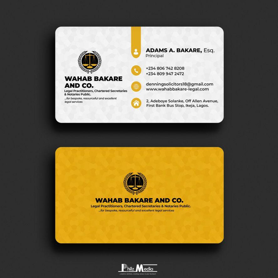 Business Card Design – Barrister Adams